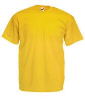 T-shirt Uomo FRUIT OF THE LOOM Valueweight S M L XL XXL XXXL Maglia Cotone Corta