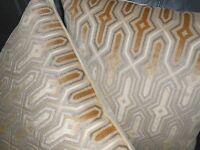 Highland Court Throw pillow covers geometric cut velvet fabric custom new PAIR