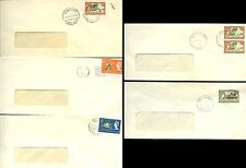 BRITISH SOLOMON Is.1963-66 COMMERCIAL WINDOW ENVELOPES DIFF.FRANKINGS...5 COVERS