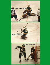 3 JON CASEY Minnesota North Stars NHL Hockey Goalie Mask Pads Vintage Photos