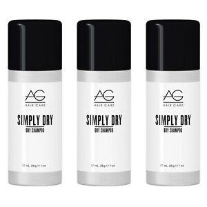 TRAVEL SIZE * 3 PACK! AG HAIR CARE SIMPLY DRY SHAMPOO SPRAY 1 OZ STYLE REFRESHER