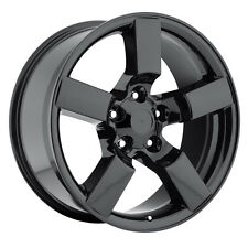 "4) 20"" Gloss Black Lightning Style Wheels Fits 1967 to 1996 Ford F150 Rims Set"