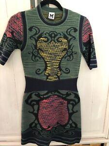 Missoni knit patterned dress size 8