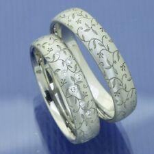 Flora Trauringe Eheringe Hochzeitsringe aus 600 Platin P3105627
