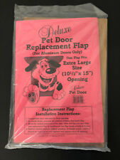 Original Deluxe Replacement Pet Door Flap Extra Large Aluminum New
