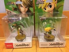 Nintendo amiibo LINK & TOON LINK 2 FIGURE SET Super Smash Bros