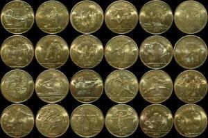 1984 Los Angeles Olympics Rapid Transit Commemorative Tokens - U Pick $2.99 Ea.