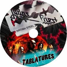 JUDAS PRIEST BASS & GUITAR TAB CD TABLATURE GREATEST HITS BEST OF METAL MUSIC