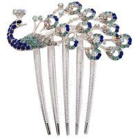 Lovely Vintage Crystal Peacock Hair Clips for hair clip Beauty Tools N3