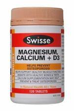 2 X Swisse Ultiboost Magnesium Calcium D3 120 Tablets
