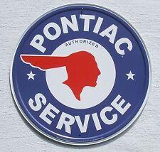 Pontiac Service USA Teile Händler Klassik Metall Schild