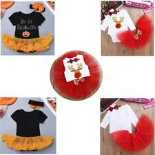 Baby Kids Girls Halloween Romper Headband Christmas Party Cosplay Carnival Set