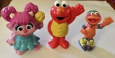 "Hasbro SESAME STREET 3"" Plastic Figures: Abby, Elmo & Zoey on Skates"