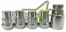 EZGO CLUB CAR GOLF CART LOCKING LUG NUTS WHEEL LOCKS | 1/2X20 CHROME BULGE ACORN