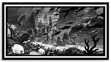 THE SUNKEN CITY of ATLANTIS by NICOLAS DELORT REGULAR EDITION #75 SCREEN PRINT