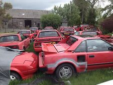 TOYOTA MR2 Mk1 breaking Red MR2 for spare parts. AW11