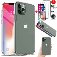 Clear Case For iPhone 11/11 Pro Max Ultra Thin Cover+Full Cover Screen Protector
