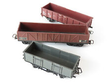 JOUEF LOT 3 WAGONS MARCHANDISE TYPE TOMBEREAU  - ECHELLE H0 1/87