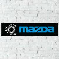 Mazda Rotary Banner Garage Workshop PVC Sign Trackside Motorsport Car Display