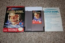 Tecmo Super Bowl (Nintendo Entertainment System NES) with Box & Ref Card GOOD