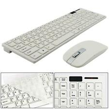 More details for slim 2.4g wireless keyboard and cordless optical mouse combo for pc white