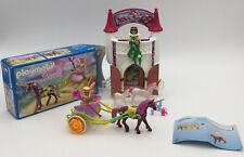 Playmobil 4777 unicorn castle and 9136 unicorn fairy carriage