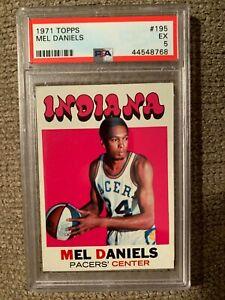 1971 TOPPS BASKETBALL #195 MEL DANIELS HOF RC CARD PSA 5 EX CENTERED ABA PACERS