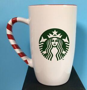 Starbucks Christmas 2011  Tall Mug with Candy Cane Handle & Red Interior