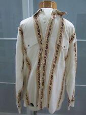 Vintage Jack Daniel's Western Style Logo Snap Close Long Sleeve Shirt Fits Sz L