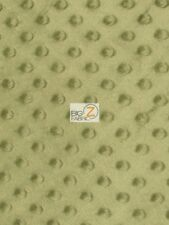 """DIMPLE DOT MINKY FABRIC 60"""" WIDTH BABY SOFT SEW SOLD BY THE YARD CUDDLE BLANKET"""