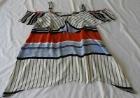 Ladies size 18 AVELLA  lightweight sleeveless summer top strpey
