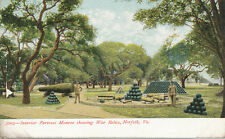 Norfolk VA * Fortress Monroe Interior & War Relics ca 1906   Cannon
