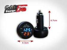 12V/24 INTERIOR THERMOMETER AIR TEMP+USB CHARGER+VOLT VOLTAGE GAUGE METER 3 in 1