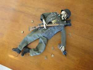 1/6 WWII Fully Articulate Skeleton Injured Soldier Dragon Action Figure +