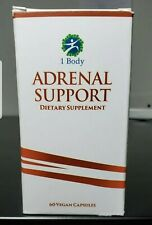 1 Body Adrenal Support NATURAL STRESS RELIEF, Vitamin B12, B5, B6, Magnesium