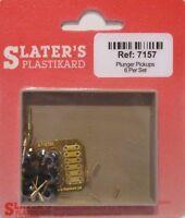 Slaters 7157 - 7mm (0) Brass Sprung Plunger Pickups 6 Kits Pk  - 1st Class Post