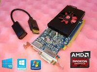 Dell Optiplex 7010 7020 7040 7050 9010 9020 SFF 1GB Video Card + HDMI Adapter