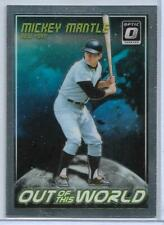 "MICKEY MANTLE (NY YANKEES) - 2018 DONRUSS OPTIC ""OUT OF THIS WORLD"" INSERT"