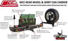 MCC 4X4 REAR WHEEL CARRIERS, MITSUBISHI TRITON MK 1996 - 2005, TOW BAR INCLUDED