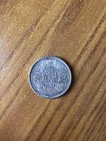 MONETA INDIA BRITANNICA 1 RUPIA 1918 GIORGIO V 11,66 Gr Argento 917