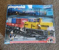 Playmobil RC Train Set 5258 + Motorized Cargo Loading Crane & accessories