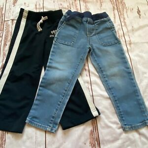 Carters boys 2 piece pants lot-denim and athletic-size 3T-guc