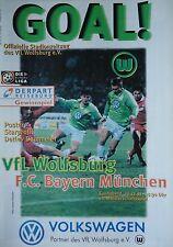 Programm 1997/98 VfL Wolfsburg - Bayern München