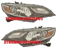 FITS HONDA FIT 2018 LEFT RIGHT HALOGEN HEADLIGHTS HEAD LIGHTS FRONT W/BULBS PAIR