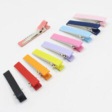 40x Hair Clips Alligator barrette clip with teeth no slippery cover ribbon 42mm