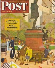 The Saturday Evening Post April 28 1945 Mead Schaeffer Vintage Birthday Gift
