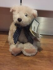 Kormico Cream Teddy With Checkered Tie