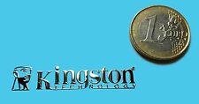 KINGSTON METALISSED CHROME EFFECT STICKER LOGO AUFKLEBER 45x9mm [312]