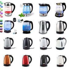 Wasserkocher Glas LED Beleuchtung Edelstahl Teekocher 1,8L BPA Frei 2200 W Neu