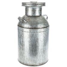 Galvanized Metal Milk Can w/ Lid 2 Handles Vintage Farmhouse Rustic Decor XXL